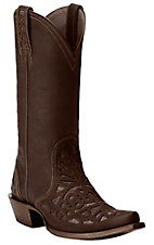 Ariat Meridian Women's Weathered Brown w/ Cutouts Snip Toe Western Boots