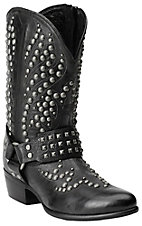 Ariat Epic Women's Black Studded Harness Traditional Toe Boot