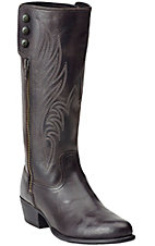 Ariat Uproar Women's Old West Black Fashion R-Toe Boots