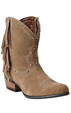 Ariat Sunset Women's Sunset Aged Soft Bark with Fring Traditional Toe Fashion Boot