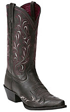 Ariat Heritage Women's Vintage Black Wing Tip J-Toe Western Boot