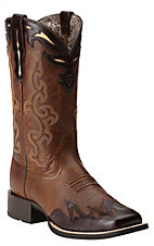 Ariat Sidekick Women's Back Country Tan & Rich Chocolate Square Toe Western Boot
