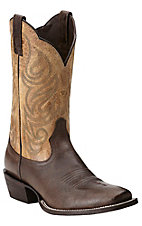 Ariat Men's Good Times Seal Brown with Roble Top Square Toe Western Boots