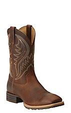 Ariat Hybrid Rancher Men's Brown Oiled Rowdy Square Toe Western Boot