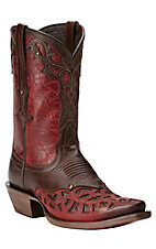 Ariat New West Women's Vera Cruz Maple & Rojo Cutout Snip Toe Western Boots