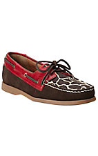 Ariat Rugged West Women's Palisade Giraffe & Ruby Moc Shoe