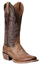 Ariat Women's Good Times Gunsmoke with Matte Chocolate Square Toe Western Boots