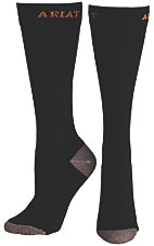 Ariat® Men's Black Slim Sport Socks