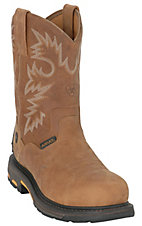 Ariat Men's Rugged Bark WorkHog Composite Toe Waterproof Pull-On Work Boots