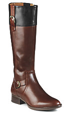 Ariat® York™ Women's Brown w/Black Cuff Classic Riding-Style Boot