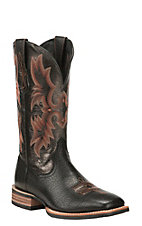 Ariat® Tombstone™ Men's Black Double Welt Wide Square Toe Western Boots