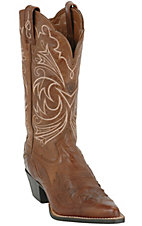 Ariat® Ladies Brown w/ Brown Patent Wing Tip J-Toe Heritage Western Boot