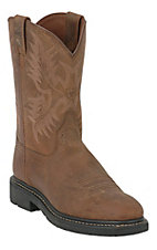 Ariat Men's Dusted Brown Sierra Western Pull-On Work Boots