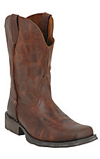 Ariat Rambler Men's Moccasin Brown Wide Square Toe Western Boots