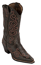 Ariat® Ladies Chocolate Brown Shelleen Swirl Embroidered Snip Toe Western Boots