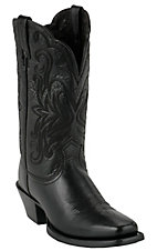 Ariat Ladies Black Deertan Punchy Square Toe Western Boots