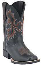Ariat® Tombstone™ Children's Black Square Toe Western Boots