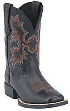Ariat® Tombstone™ Youths Black Square Toe Western Boots