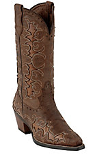 Ariat Dandy Ladies Sassy Brown w/ Sandy Brown Inlays Snip Toe Western Boots