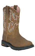 Ariat® Ladies Brown Tracey Pull On Roper Toe Western Work Boot
