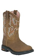Ariat Ladies Tracey Brown Pull On w/ Composite Steel Toe Western Work Boot