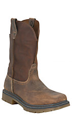 Ariat Rambler Men's Distressed Earth Brown Soft Shaft Square Steel Toe Work Boots