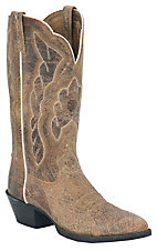 Ariat® Heritage™ Ladies Shattered Distressed Tan Brown R-Toe Western Boots