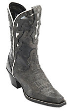 Ariat® Sidesaddle™ Ladies Vintage Black w/ White Inlay Snip Toe Western Boot