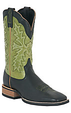 Ariat® Sweetwater™ Men's Black w/ Olive Green Top Double Welt Square Toe Western Boot