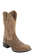 Ariat® Reinsman™ Men's Distressed Earth Brown Punchy Square Toe Western Boots