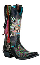 XEMAriat® Gypsy Soule™ Ladies Black Indian Sugar Soule Snip Toe Western Boots