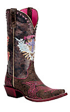 Ariat® Gypsy Soule™ Ladies Wild Brown Pink & Sassy Soule Snip Toe Western Boots
