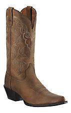 Ariat® Ladies Distressed Brown J-Toe Heritage Western Boot