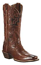 Ariat Runaway Ladies Vintage Carmel w/ Rich Chocolate Square Toe Western Boots