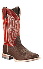 Ariat® High Call™ Men's Chocolate Shoulder w/ Red Top Triple Welt Round Toe Boots