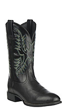 Ariat® Heritage Stockman™ Men's Black Deertan Round Toe Western Boots