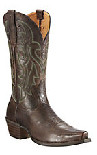 Ariat® Heritage Western™ Men's Dark Weathered Brown Snip Toe Western Boots