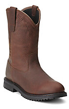 Ariat Rigtek Men's Oiled Brown Waterproof Slip-On Workboots