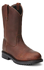 Ariat Rigtek Men's Oiled Brown Waterproof Slip-On Composite Toe Workboots