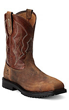 Ariat Rigtek Men's Earth Brown Square Composite Toe Slip-On Workboots