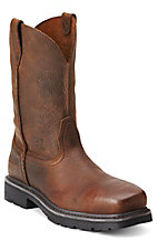 Ariat Rambler Men's Brown Oiled Rowdy Square Composite Toe Slip-On Workboots