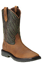 Ariat Maverick Men's Desert Brown Square Toe Slip-On Workboots