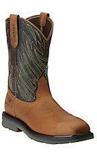 Ariat Maverick Men's Desert Brown Square Composite Toe Slip-On Workboots