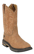 Ariat® Men's Rugged Bark Workhog™ Pull On Square Toe Work Boot