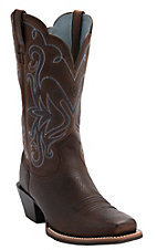 Ariat® Ladies Legend Western Boots - Oiled Brown Square Toe