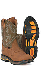 Ariat® Aged Bark Workhog w. Army Green Tops
