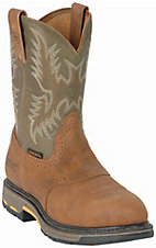 Ariat® Aged Bark Workhog Composite Toe W. Army Green Tops