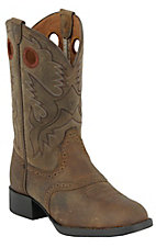XEMAriat® Youth Heritage™ Stockman Boots - Distressed Brown