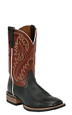 Ariat® Quickdraw™ Men's Black Deertan with Washed Adobe Wide Square Toe Western Boots