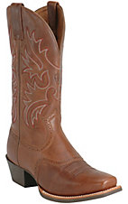 Ariat Legend Men's Russet Rebel Brown Double Welt Punchy Square Toe Western Boot